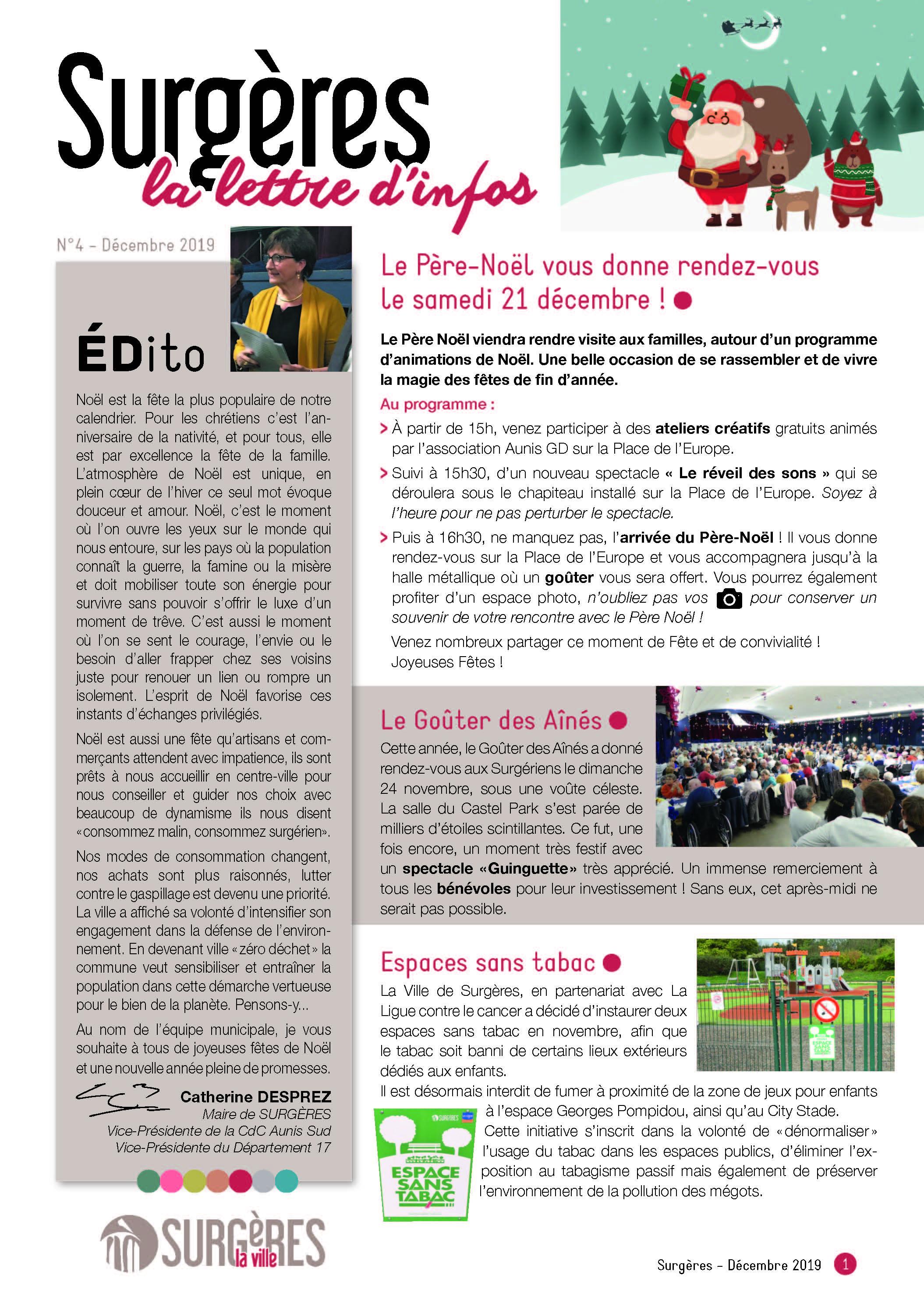 <strong>Bulletin municipal</strong> du 09 décembre 2019