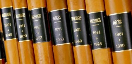 Actes d'état civil et registres