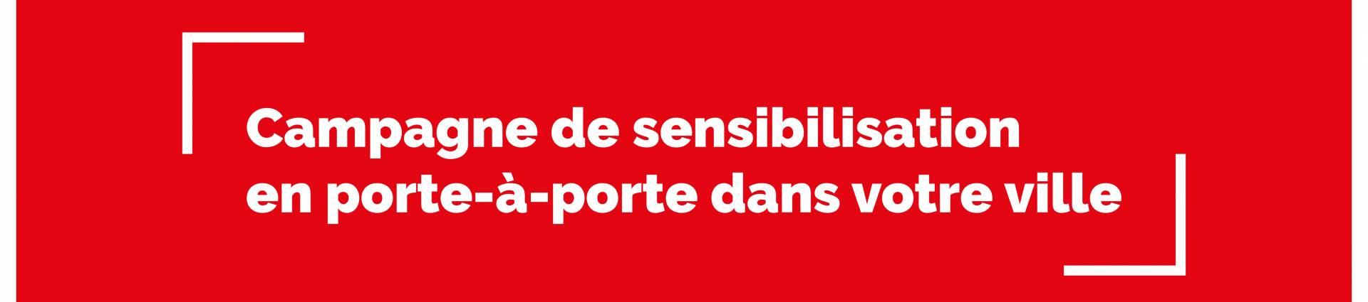 CAMPAGNE DE SENSIBILISATION CROIX ROUGE