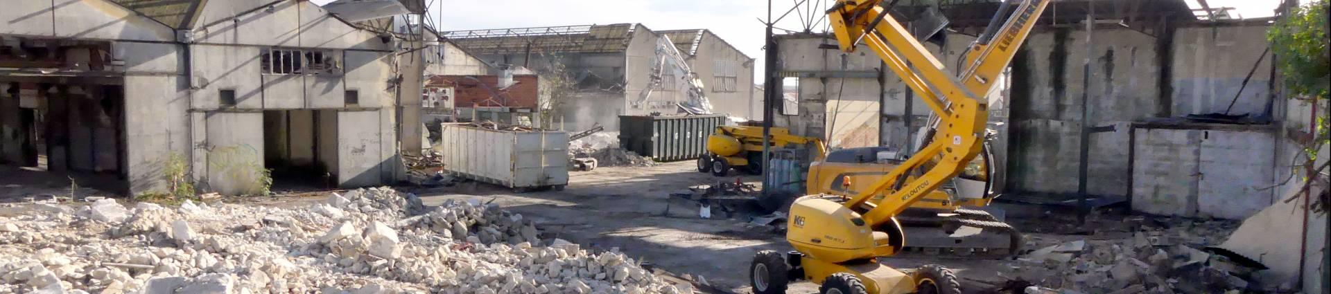 Le site Poyaud désamianté et démoli